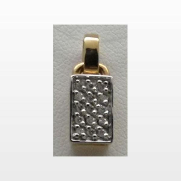 pendentif or diamant