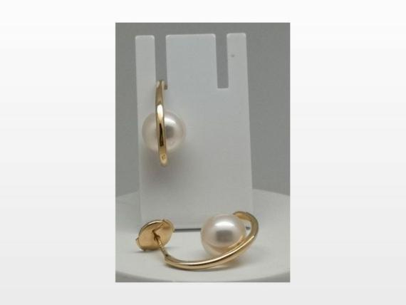 Boucles d'oreille or perles