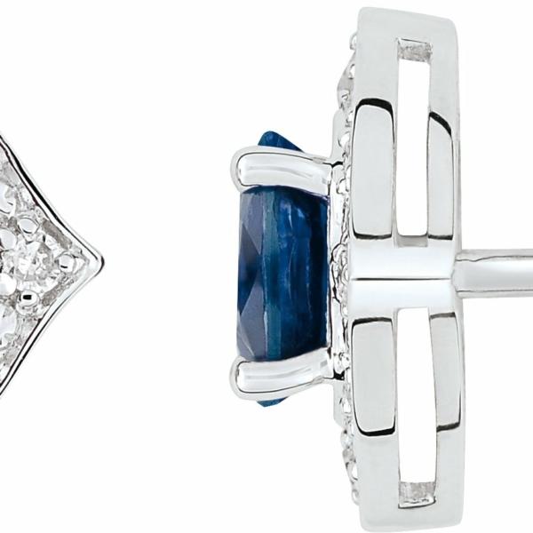 Boucles d'oreille saphirs diamants
