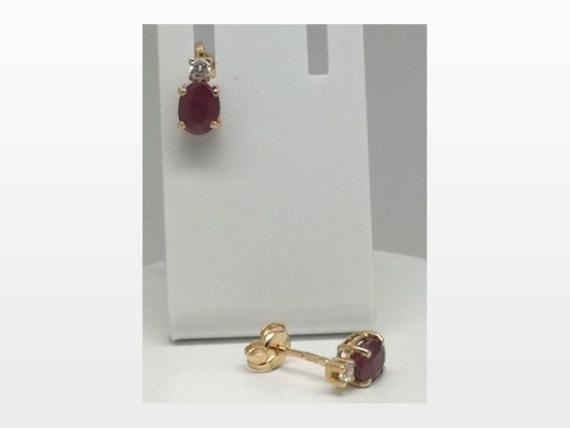 Boucles d'oreille rubis ocydes