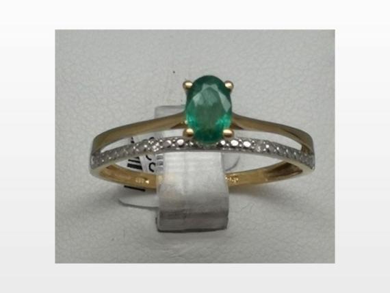 bague or émeraude diamant