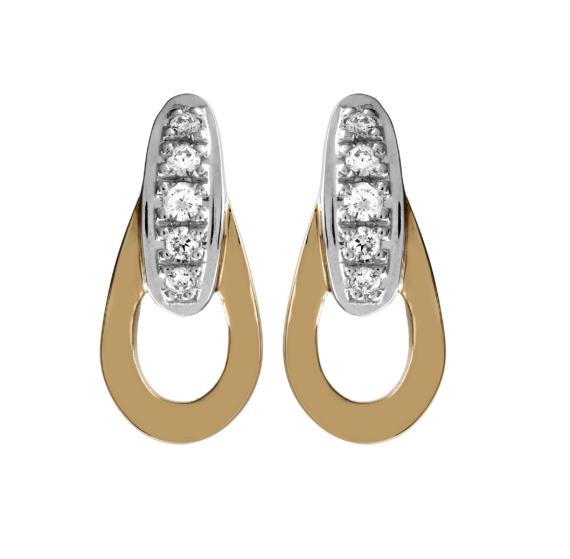 boucles d'oreille or diamants
