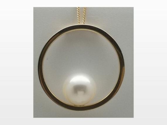 pendentif or perle