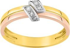 Bague or diamants