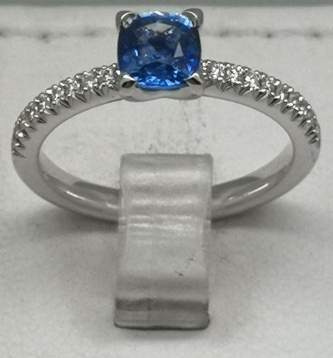 Bague or saphir diamant