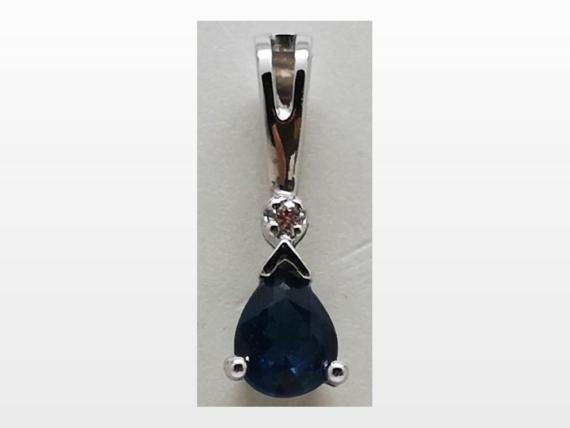 pendentif or saphir diamant